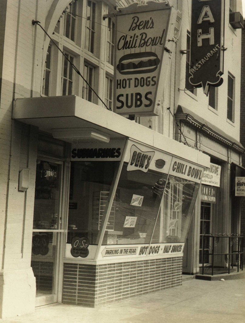Ben's Chili Bowl in 1958 from their website, http://benschilibowl.com/
